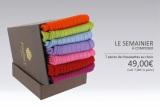 Chaussette 100% coton, semi hautes couleur violet