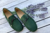 Mocassin Loafer CANCUN Daim Vert  Finsbury shoes