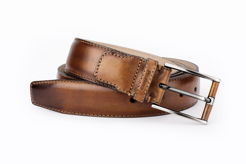 Brown Patina Leather Belt