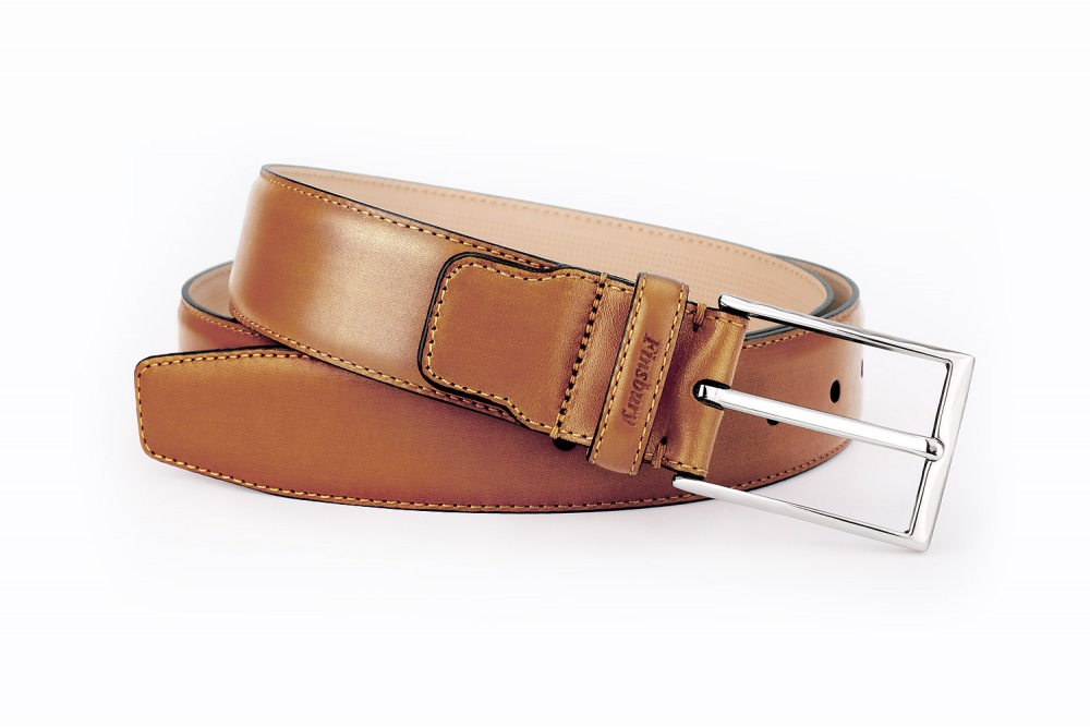 Gold Patina Leather Belt