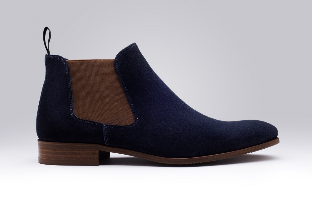 Boots LENNY Blue Suede