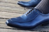 Oxford Patina Blue Shoes - Gianni by Finsbury