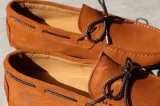 Mocassin Loafer CANCUN Daim Tabac - Finsbury shoes