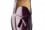 Mocassin Olden couleur bordeaux en cuir lisse - Finsbury Shoes