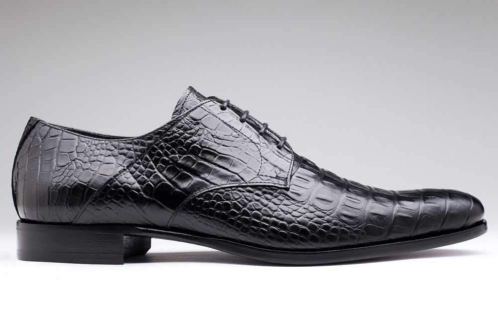 Derby AMALFI Black Crocodile