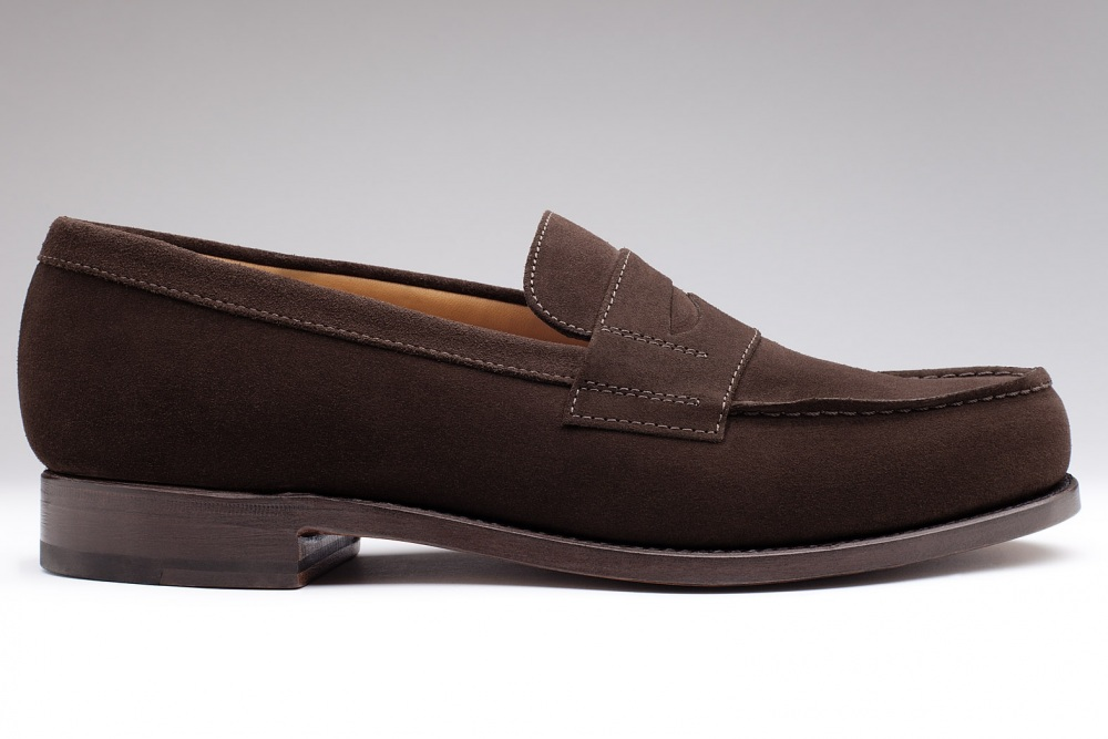 mocassin college veau velours marron pour homme finsbury shoes. Black Bedroom Furniture Sets. Home Design Ideas
