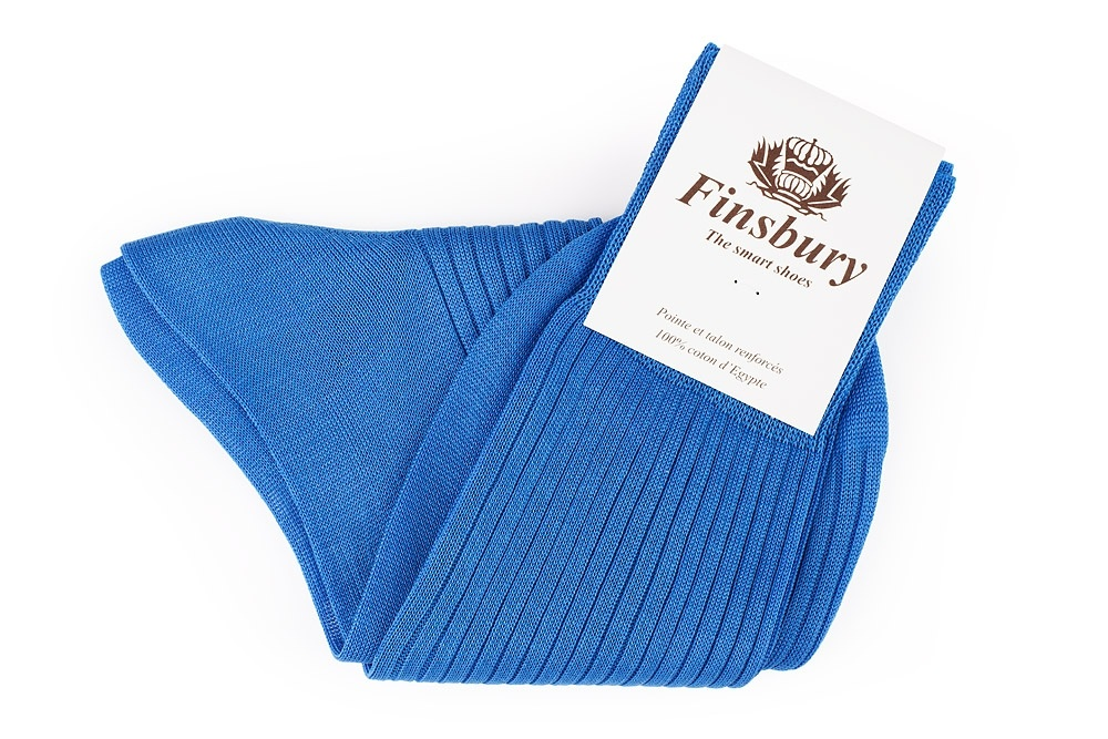 Royal Blue Cotton Socks