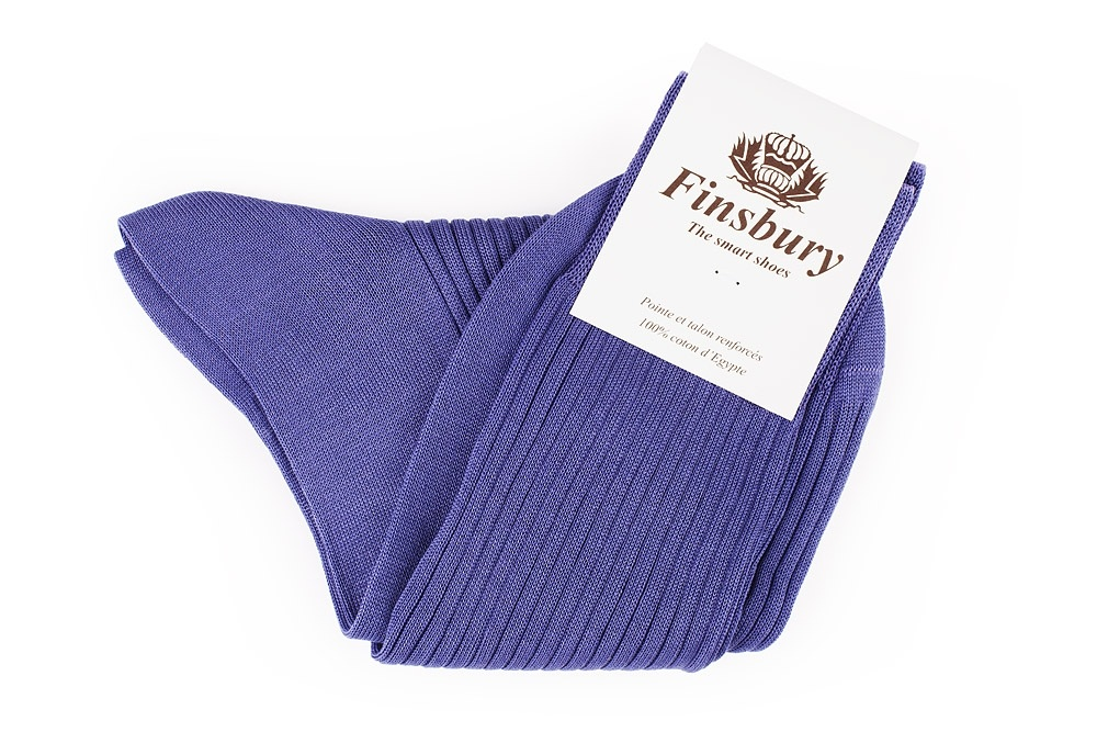 Indigo Blue Cotton Socks