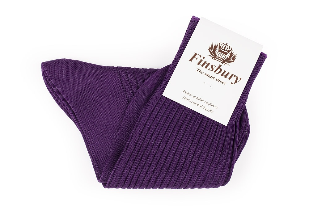 Plum Cotton Socks