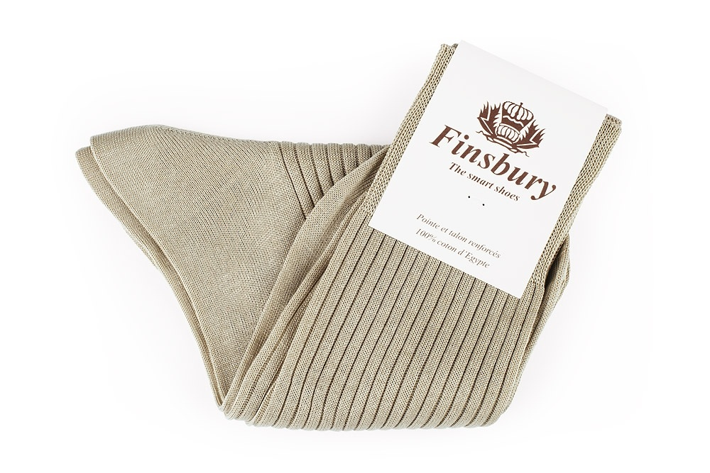 Beige Cotton Socks