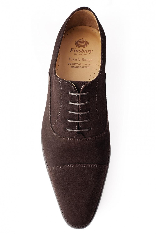 chaussure consul en veau velours marron richelieu finsbury shoes. Black Bedroom Furniture Sets. Home Design Ideas